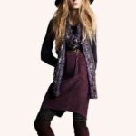 collection-autome-hiver-2009-2010-H-M-femme-jupe-violette-rayee
