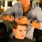 Backstage at the Louis Vuitton Men's Fall/Winter 2011-2012