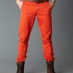 Alpha Khaki Dockers orange